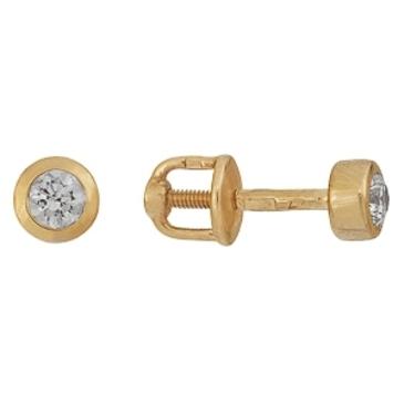 серьги c бриллиантами из красного золота 21038292