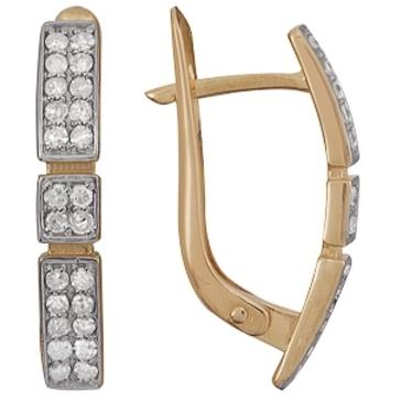 серьги c бриллиантами из красного золота 21038451