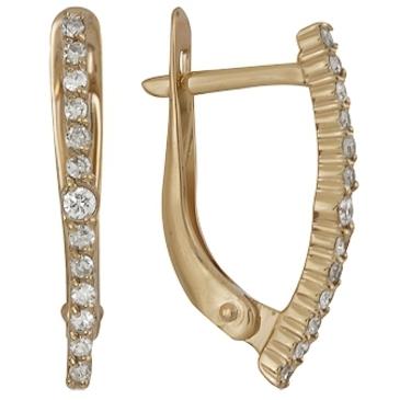 серьги c бриллиантами из красного золота 21038457