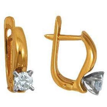 серьги c бриллиантами из красного золота 22032843-1