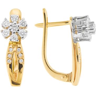 серьги c бриллиантами из красного золота 22033782