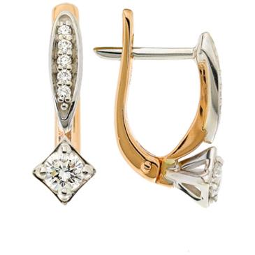 серьги c бриллиантами из красного золота 22037832