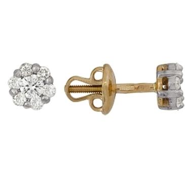 серьги c бриллиантами из красного золота 22038335