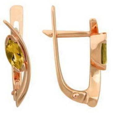 серьги c цитринами из красного золота 21902427 от EVORA