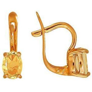 серьги c цитринами из красного золота 2190524 от EVORA