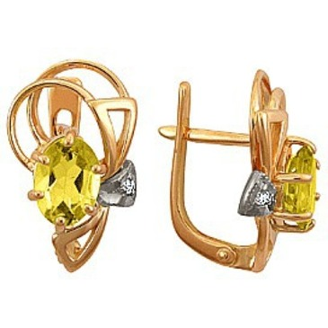 серьги c гранатами из красного золота 22321096