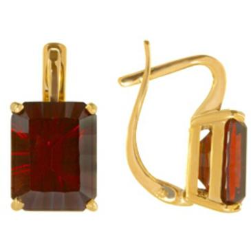 серьги c гранатами из красного золота 2130519