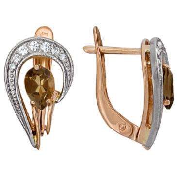 серьги c бриллиантами из красного золота 1816211881 от EVORA