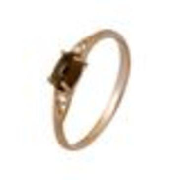 серьги c раухтопазами из красного золота 1790012281