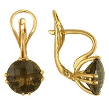 серьги c топазами из красного золота 1080010204 от EVORA