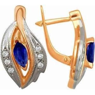 серьги c бриллиантами из красного золота 22531528