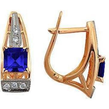 серьги c сапфирами и бриллиантами из красного золота 22531626