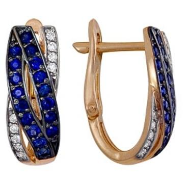 серьги c сапфирами и бриллиантами из красного золота 1850212420