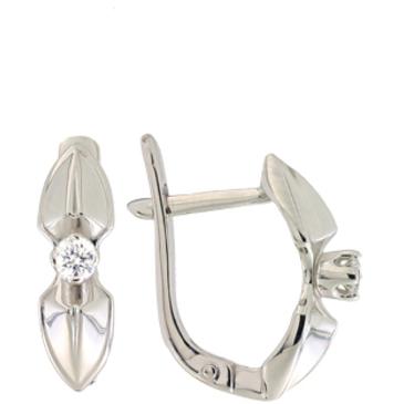 серьги c бриллиантами из палладия 20038141