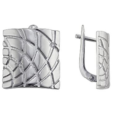 серьги c фианитами из серебра 3207011841