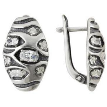 серьги c фианитами из серебра 3207011871