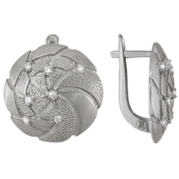 серьги c фианитами из серебра 3207010690