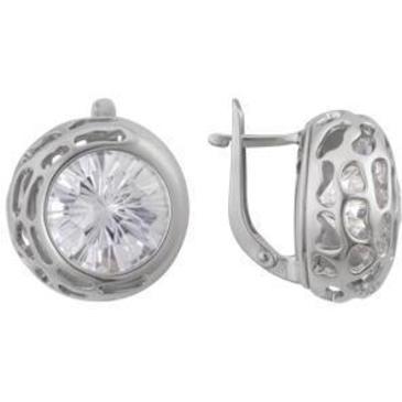 серьги c фианитами из серебра 3207012130