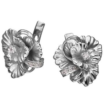 Серьги 'МАРГАРИТА' из серебра С-15010