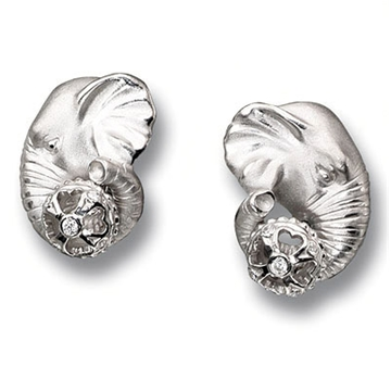 серьги Слоны из серебра С-25034