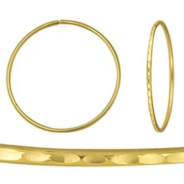 серьги конго диаметром 35 мм из желтого золота 1404317017