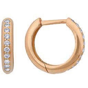 серьги c бриллиантами из желтого золота 24031711