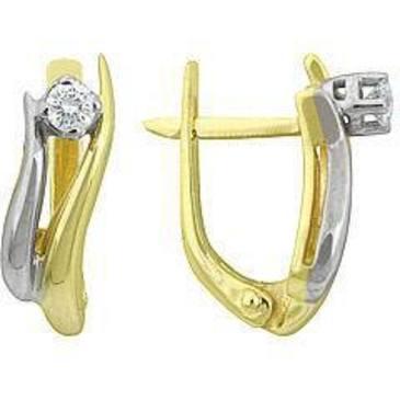 серьги c бриллиантами из желтого золота 24032511