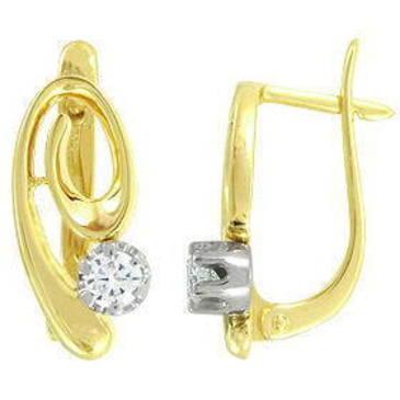 серьги c бриллиантами из желтого золота 24032871