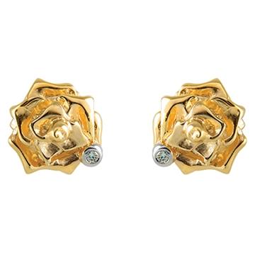 Серьги ШАРМ из желтого золота С-14053(пусеты)