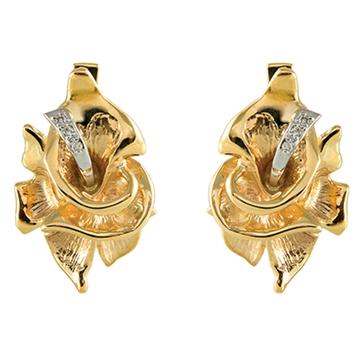 Серьги ВИВАЛЬДИ из желтого золота С-14054