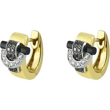 Серьги Guy Laroche с бриллиантом из желтого золота tg344xdbn от EVORA