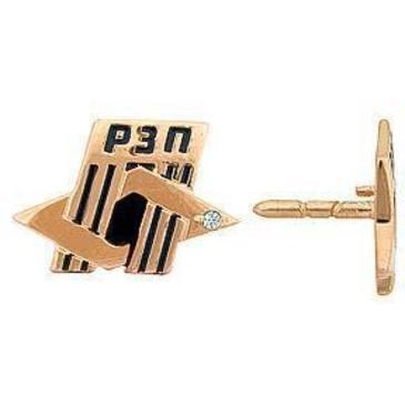 значок c фианитом из красного золота 1640029008