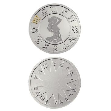 медаль Дева из серебра 3402229233