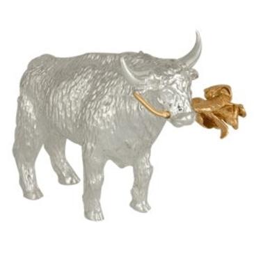 сувенир бык (телец) из серебра 3402050258