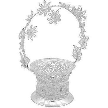 сувенир корзинка из серебра 3553050457