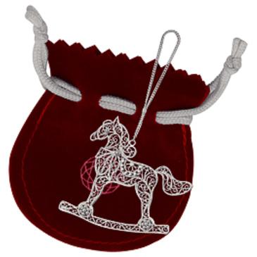 сувенир Лошадка из серебра 3553052095М