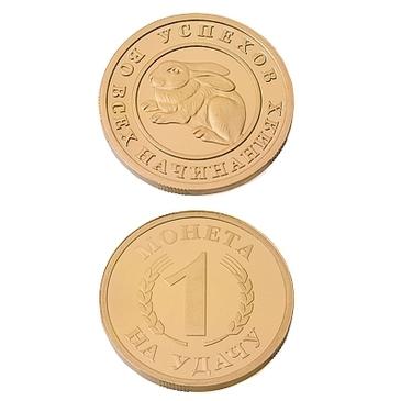 сувенир монета на удачу из серебра 3402029057