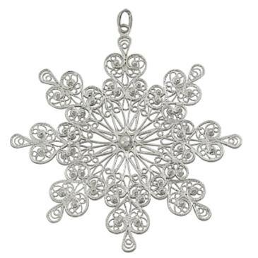 сувенир снежинка из серебра 3400050783