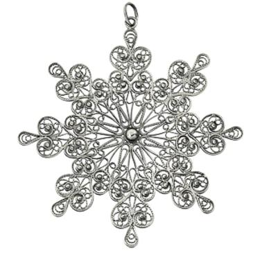 сувенир снежинка из серебра 3401050783