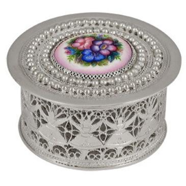 шкатулка c финифтью из серебра 3573051455 от EVORA