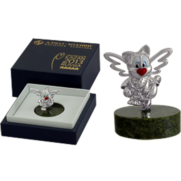 сувенир c змеевиком из серебра 3590050206