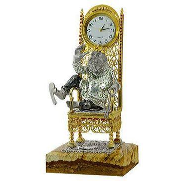 сувенир-часы Позвольте представиться, Царь! c яшмой из серебра 3565051973